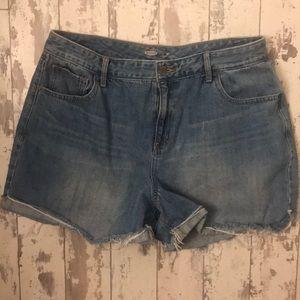 Denim shorts cut offs size 16